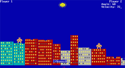 QBasic Gorillas